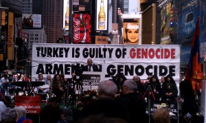 Dr. Richard Hovannisian at 2011 Times Square Commemoration of Armenian Genocide